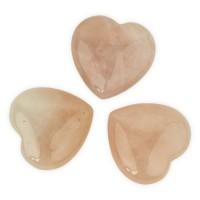 Hartvormige knuffelsteentjes - rozenkwarts
