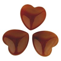 Hartvormige knuffelsteentjes - amethist phantom